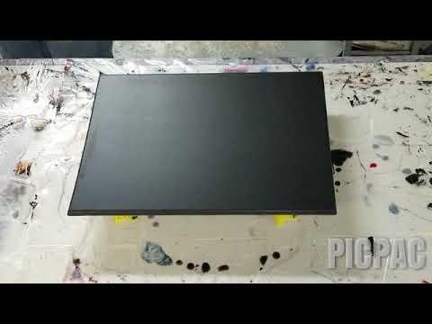 Epoxy wall art. Black and silver resin art.