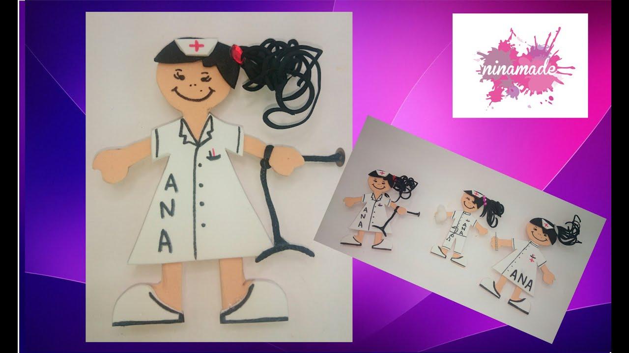 Worksheet. DIY Broche enfermera personalizado de goma eva  YouTube