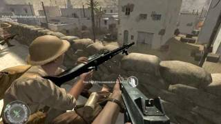 """Call of Duty 2"", walkthrough on Veteran, Chapter 6 - Rommel's Last Stand, part 2 - Retaking Toujane"