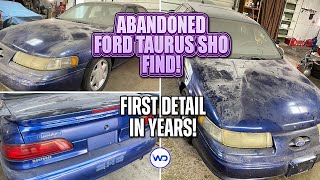 ABANDONED BODY SHOP FIND First Detail in Years Ford Taurus SHO! Satisfying Car Detailing Restoration