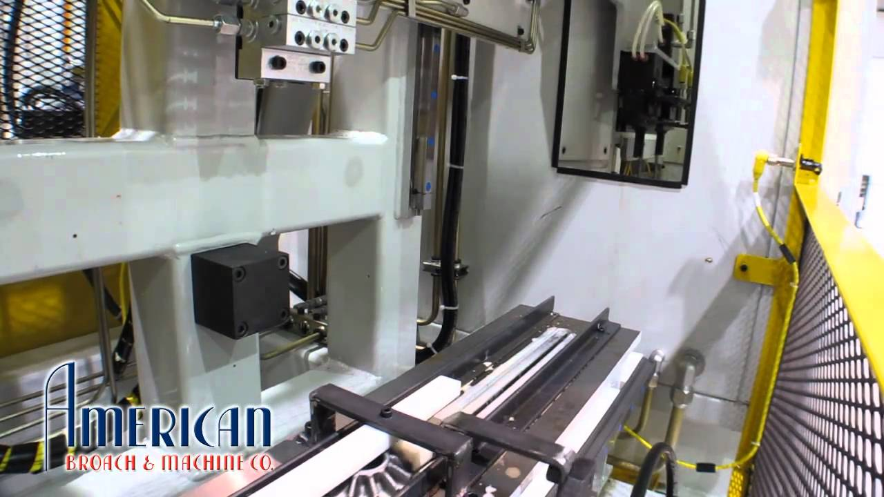 Vertical table up spur gear broaching american broach for Gear company of america