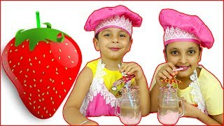 STRAWBERRY SHAKE || Cooking Without Fire | kids recipes | Aayu and Pihu Show