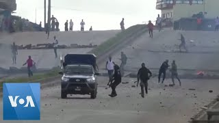 Police Use Tear Gas Against Anti-Government Protesters in Guinea
