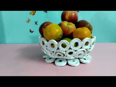 How to make a FRUIT / VEGETABLE   basket   with Newspaper / DIY  NEWS PAPER CRAFT