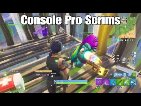 Console Pro Scrims Highlights Fortnite Battle Royale Youtube