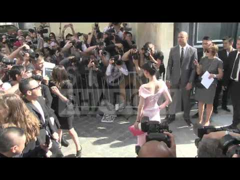 ZAHIA D and guests arriving at 2013 Dior fashion show in Paris