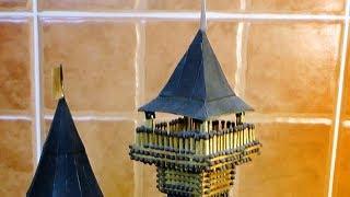 смотровая площадка для замка из спичек  спичкин дом, секреты моделирования из спичек