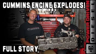 Cummins Engine Explodes on the Track - Full Story | Power Driven Diesel