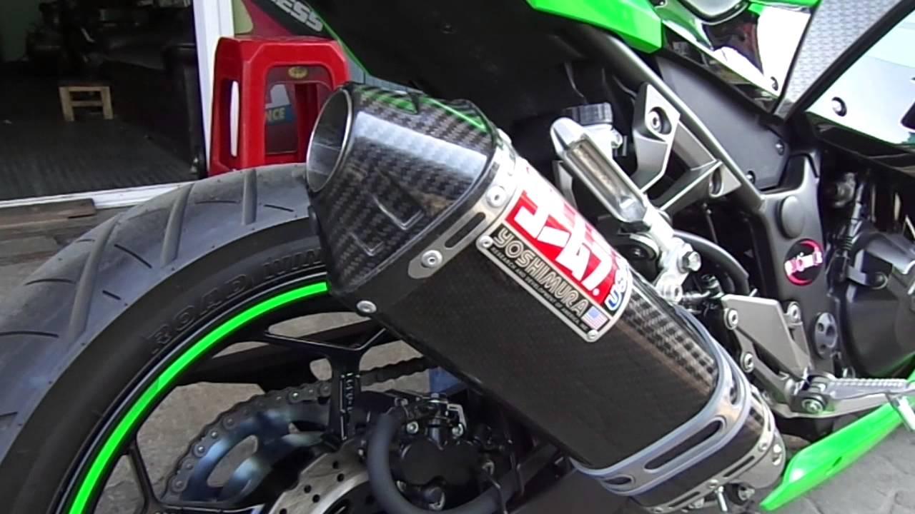 250r Kawasaki Ninja >> Yoshimura carbon slip-on for Ninja 250r y.2013 - YouTube
