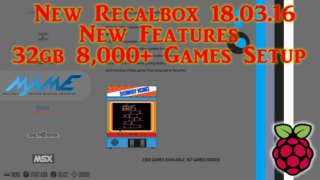 New Recalbox New Features - 8,000+ Games Update