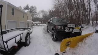 Ford F150 Snow Plowing Dec 12 2016
