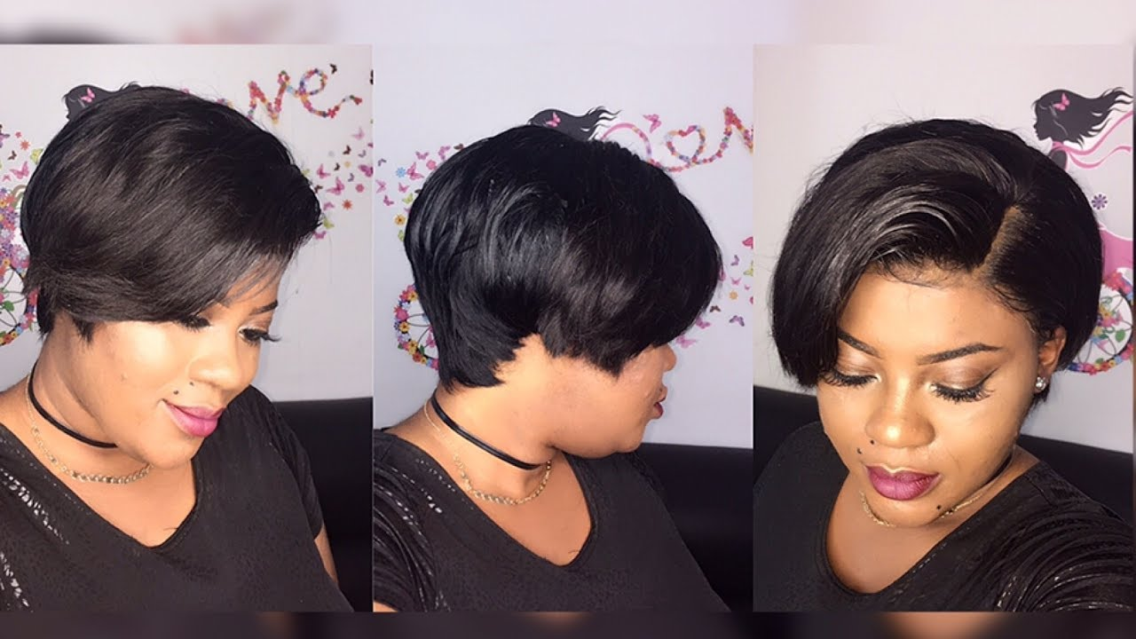Diy 27 Piece Amp A Lace Frontal Pixie Cut Wig Youtube