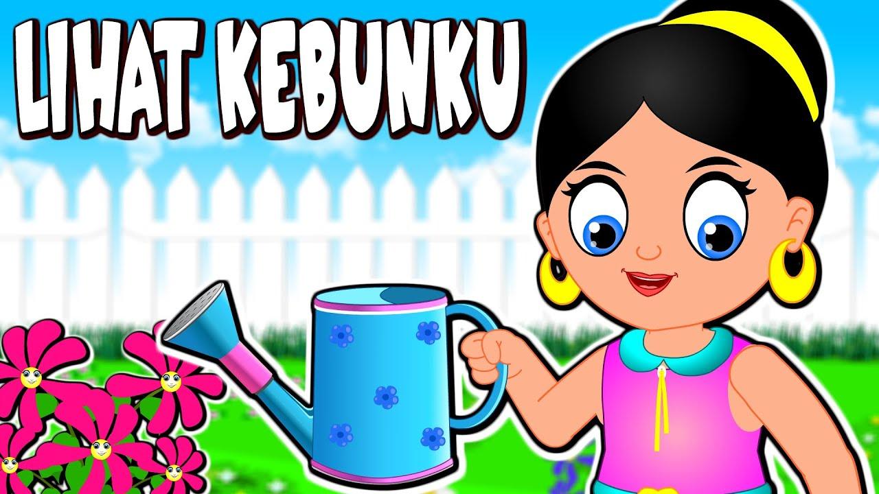 LIHAT KEBUNKU | Lagu Kanak-Kanak Melayu Malaysia | Bahasa Kids Rhymes