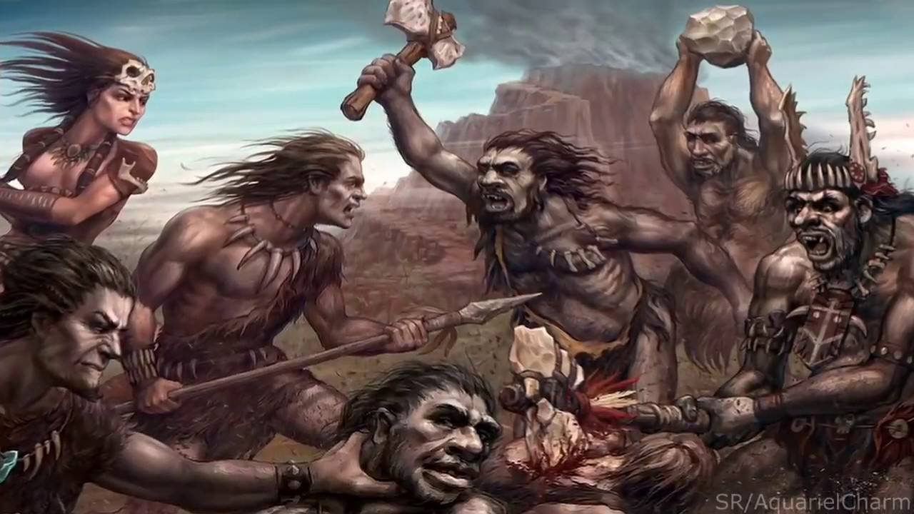 Image result for cavemen violence
