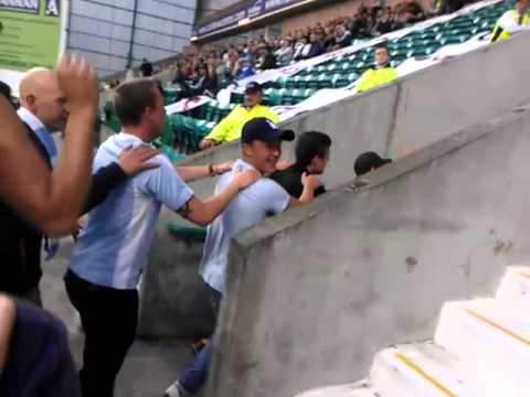 Malmo Fans At Easter Road