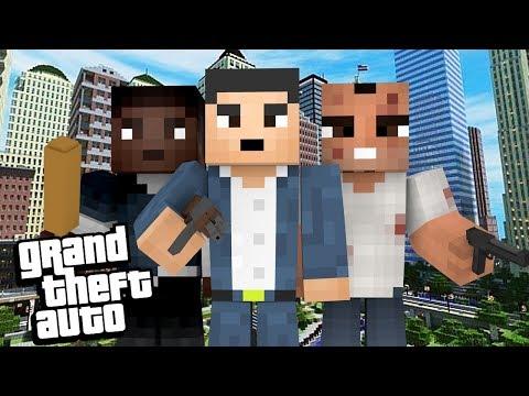 Minecraft: GTA NO MINECRAFT!!!
