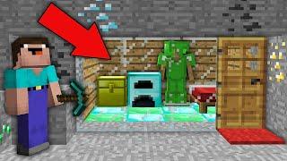 Minecraft NOOB vs PRO: NOOB FOUND SUPER SECRET HOUSE IN THIS MINE! Challenge 100% trolling