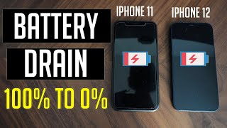 iPhone 12 vs iPhone 11 Battery Drain Test | 100% to 0% COMPLETE DRAIN 2021