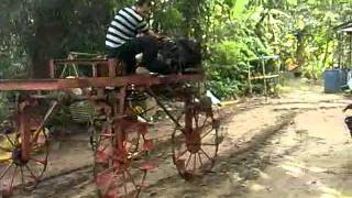 tractor paddy sprayer home made test 1