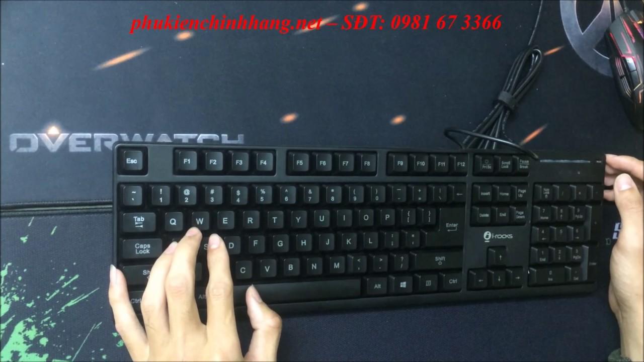 Review bàn phím giả cơ I-Rock KR6260E