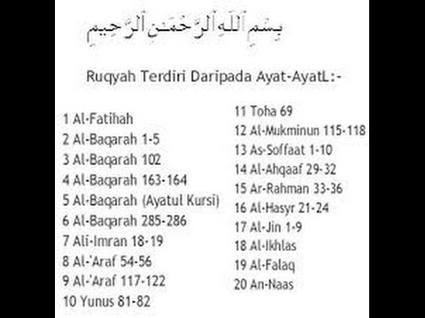 Ruqyah pdf ayat syariah