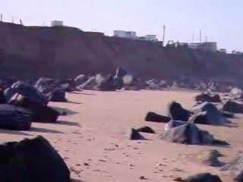 Happisburgh beach after a storm