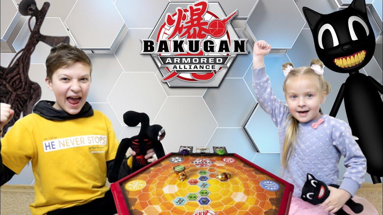 Бакуган БИТВА Сиреноголовый VS Картун Кэт! Кто победит с новыми  Bakugan Armored Alliance?