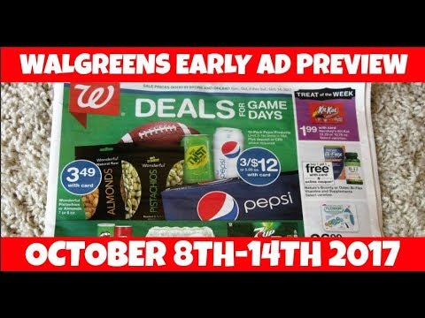 Walgreens Early Ad Preview October 8th-14th 2017