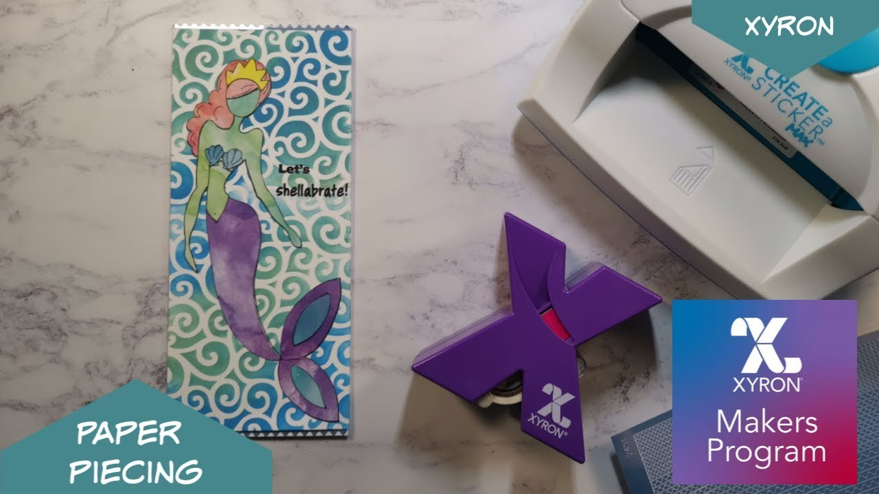 paper piecing card making technique with xyron  youtube