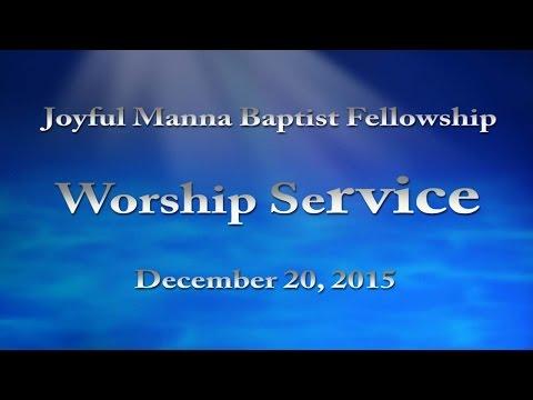 "Sermon: ""One of Us"" (Manna-LIVE @ Joyful Manna Fellowship / 12-20-2015)"