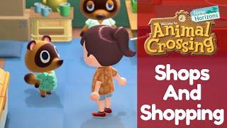 Shopping in Animal Crossing New Horizons