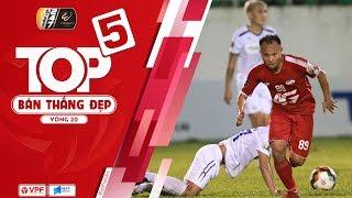 Top 5 bàn thắng đẹp vòng 20 | Dấu ấn đậm nét từ cặp đôi tuyển thủ của Viettel | VPF Media