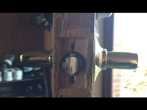 Door Knob U0026 Deadbolt Stripped Screw In Wood Door Repair