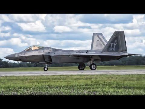 F-22 Raptors Go Vertical On Takeoff