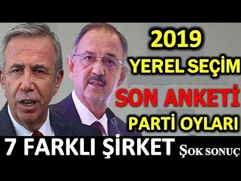7 farklı şirket Ankara son anket. Mansur Yavaş Mehmet Özhaseki Ak parti CHP Cumhur ittifakı oy oranı