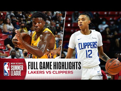 Download LAKERS at CLIPPERS | NBA SUMMER LEAGUE | FULL GAME HIGHLIGHTS