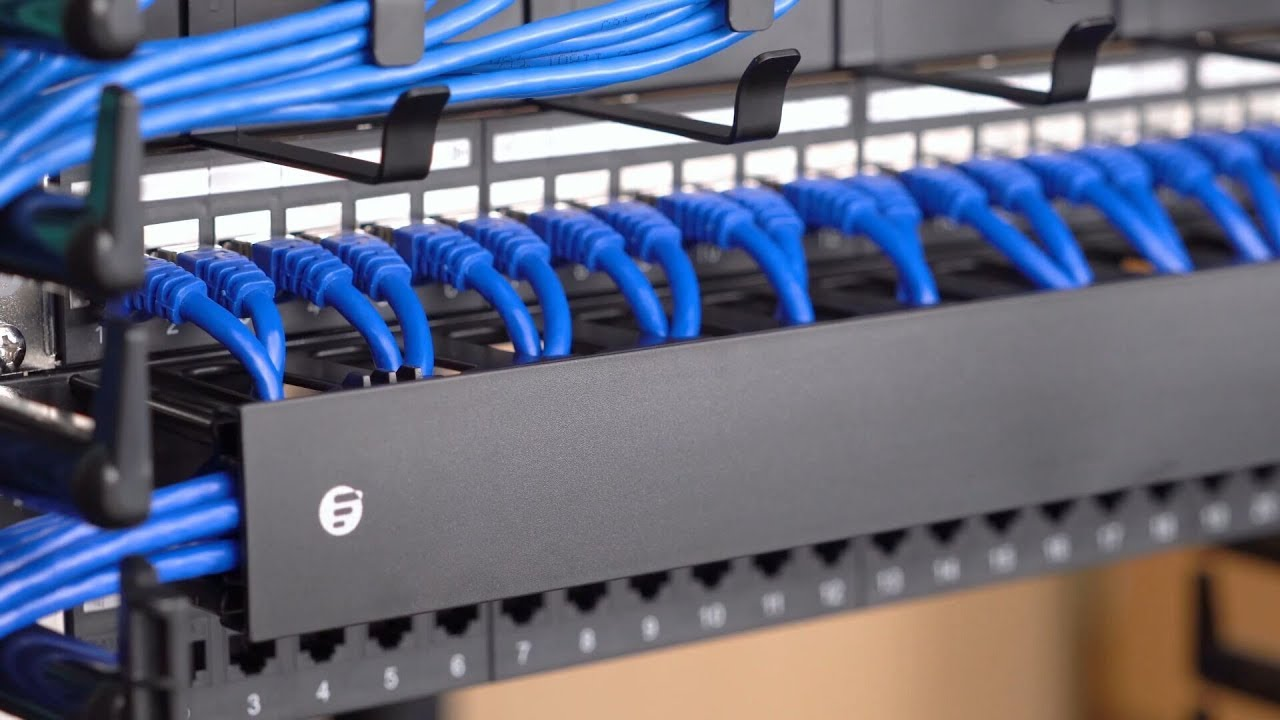 Plastic Horizontal Cable Managers For Ethernet Cabling Fscom Radar Utilizing A Fiber Optic On Wiring In House