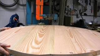 "Northfield 27"" Bandsaw Cutting  42"" Dia Table Top Of Pine"