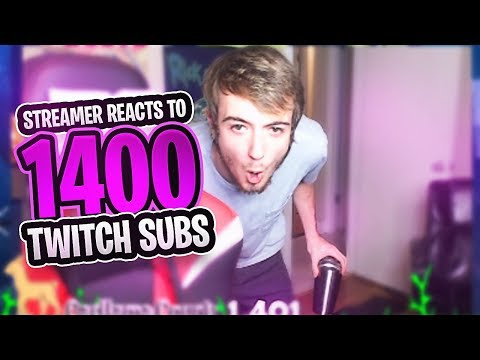 STREAMER FREAKS OVER 1400 TWITCH SUBS! (Celebrating With Crazy Sub Squads)