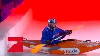Stefan Mross & Anna-Carina Woitschack (Flucht vor Rot) | Die ProSieben Wintergames 2018 | ProSieben