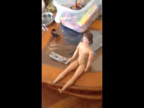 pooping Naked man