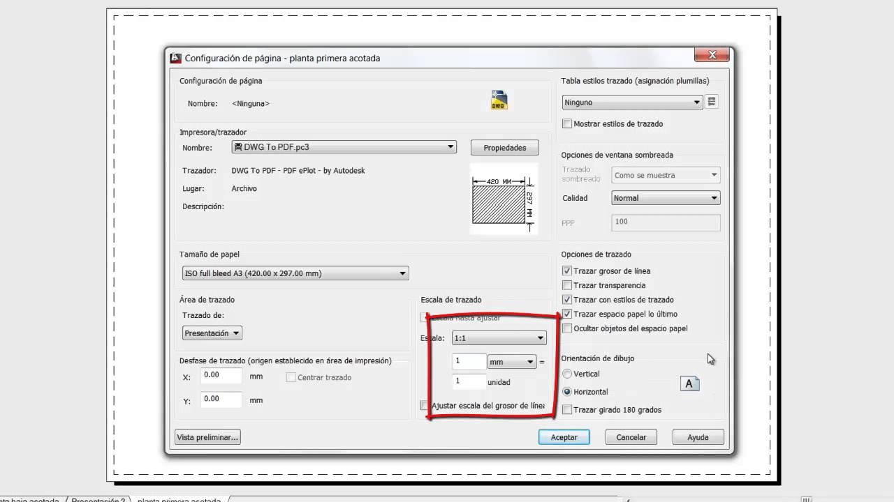 Imprimir en AutoCAD (DWG a PDF) - YouTube