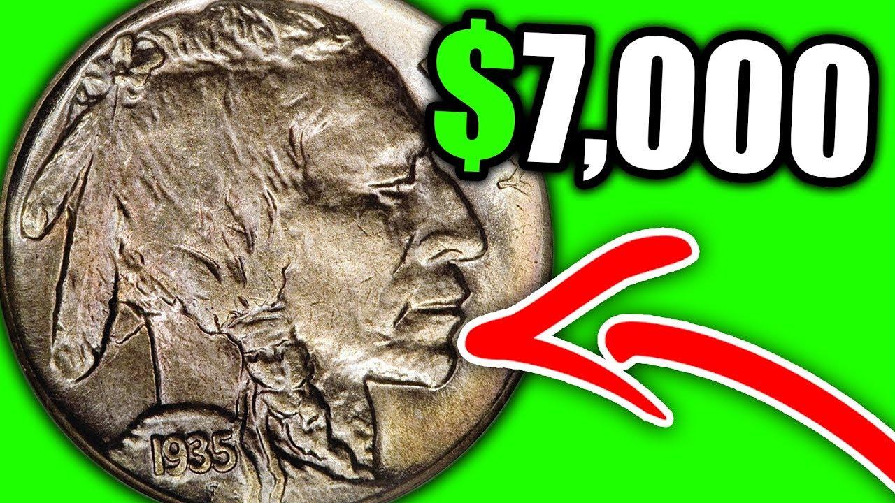 1935 S Buffalo Indian Head Nickels