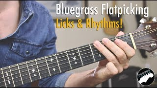 Bluegrass Flatpicking Guitar Lesson   Licks in Key of G, C, and D