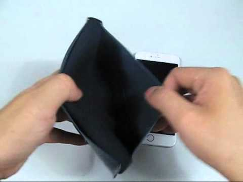 """pdair-simple-leather-wallet-case-for-apple-iphone-6-plus-(5.5"""")-with-card-holder-(type-i)-(black)"""