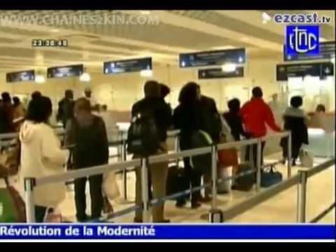 *NOUVEL AEROPORT N'DJILI : LES 1er  VOYAGEURS ** 5/7/2015