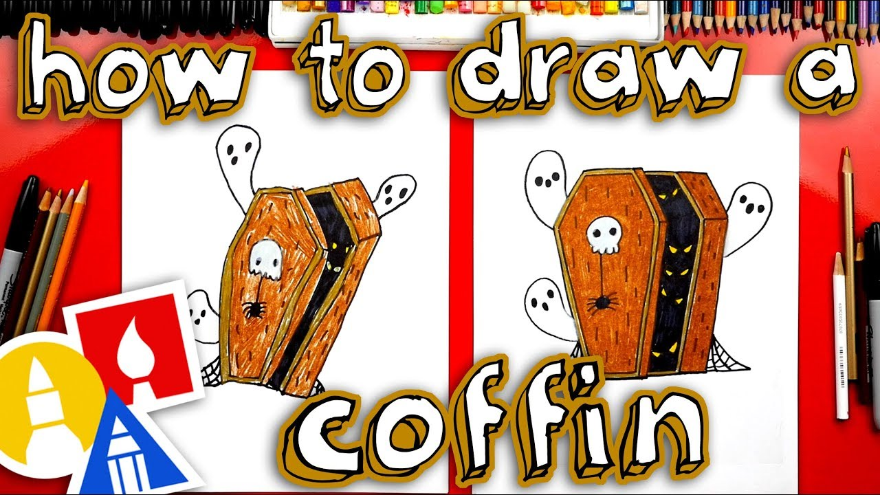 how to draw a coffin for halloween - youtube