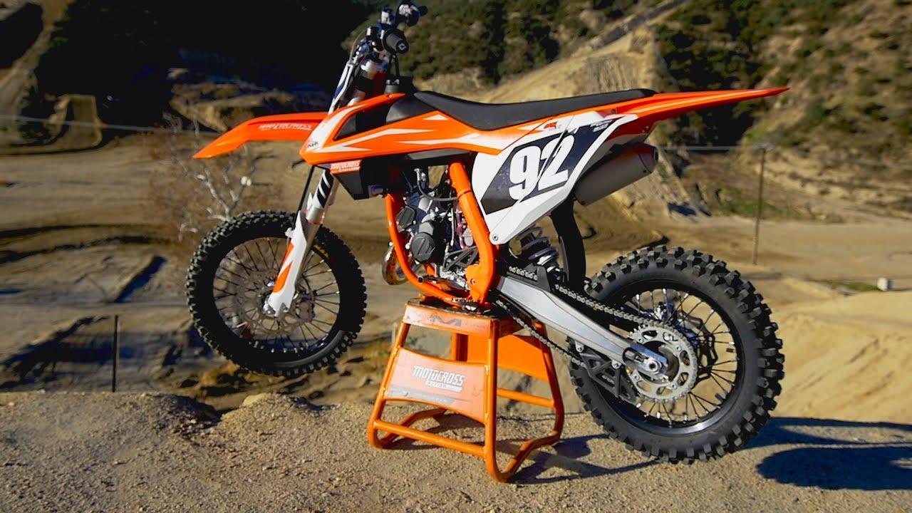 first ride 2018 ktm 85 sx motocross action magazine youtube. Black Bedroom Furniture Sets. Home Design Ideas