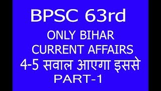 BPSC ( PRE ) Special Current Affairs in Hindi 2018. PART-1