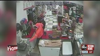 Violent Tampa store robbery captured on video